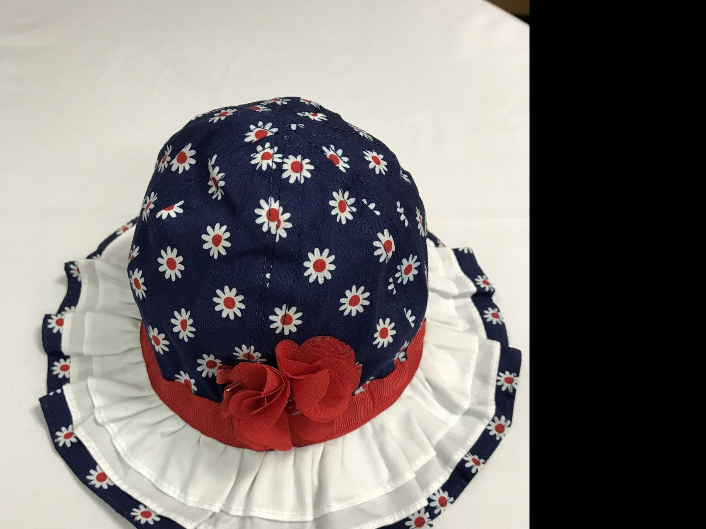 3a387d6bb6b WEE ONES RED-WHITE-BLUE SUN HAT SIZE 6-12 MONTHS ...
