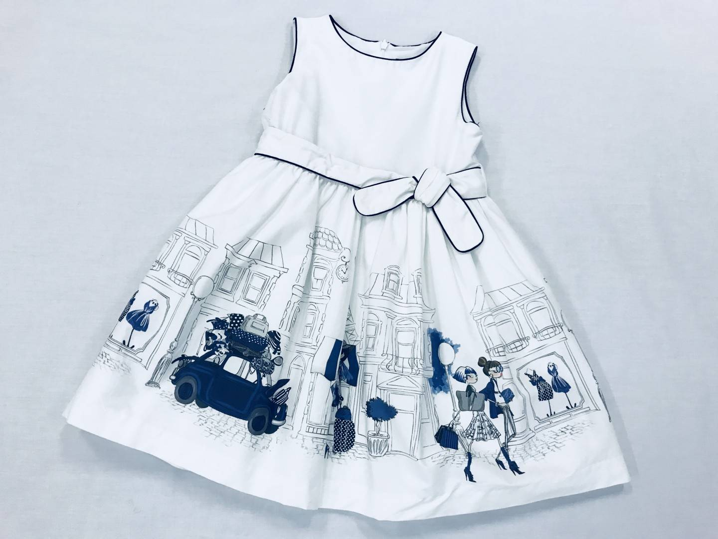 bd22d5b036 NAVY BLUE AND WHITE DRESS SIZE 5-7 ...