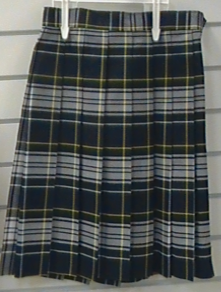 Knife Pleat Skirt Plaid 45
