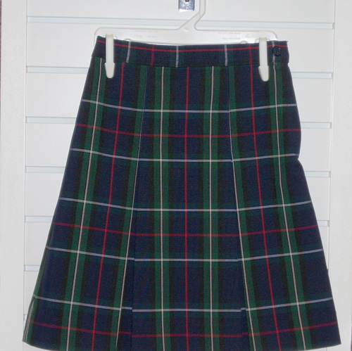 Two Kick Pleat Skirt Plaid 1E