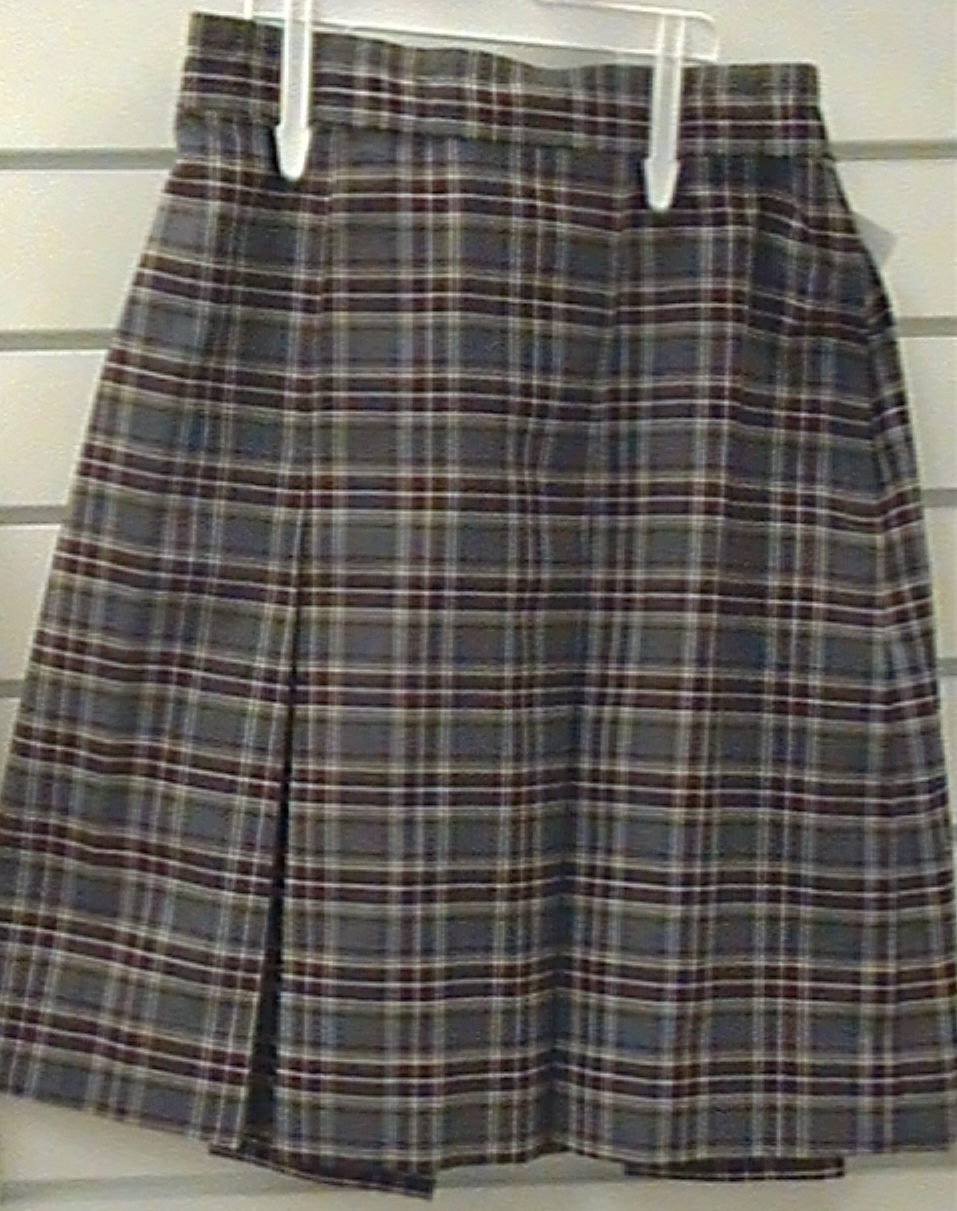 Two Kick Pleat Skirt Plaid 43