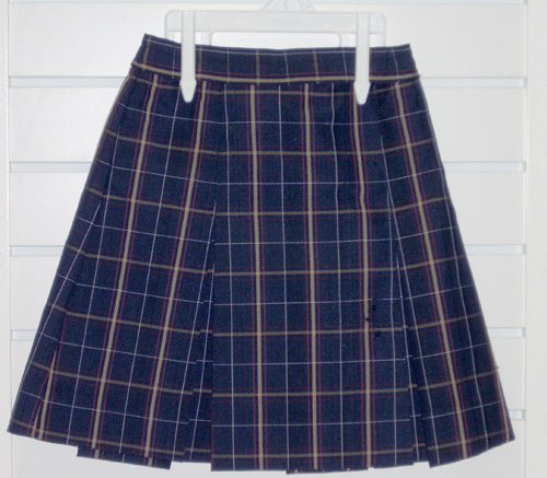 Two Kick Pleat Skirt Plaid 6A